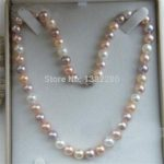 7-8mm Multicolor freshwater pearl necklace 18″ Women <b>jewelry</b> <b>making</b> design