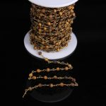 Fashion Yellow Tiger Eye Matte Bead Rosary Chain,Brass Wire Wrapped Natural stone 4mm Round Bead Chain <b>Necklace</b> bracelet <b>Jewelry</b>