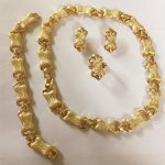 KINGDOM MA Wholesale Gold Color Romantic Classic Wedding Bone Necklace Bracelet Party <b>Jewelry</b> Set Costume Statement <b>Accessories</b>
