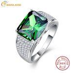 Nano Russian Emerald Luxury Brand <b>Jewelry</b> Rings 925 Sterling <b>Silver</b> Wedding Ring 9.5ct Emerald Cut Ring High Quality for Women