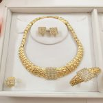 Custom African Beads Zinc Alloy <b>Jewelry</b> Sets For Women Nigerian Wedding Necklace Earring Dubai High Quality Bridal <b>Accessories</b>