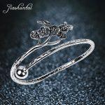 JIASHUNTAI Retro 990 <b>Sterling</b> <b>Silver</b> Bangles For Women <b>Jewelry</b> Plum Blossom Design Female Handmade Best Gift
