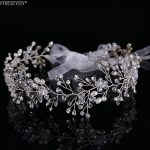 <b>Fashion</b> Silver Crystal Bride Long Headbands Hair <b>Jewelry</b> For Best Handmade Pearl Rhinestones Hairwear Wedding Hair Accessories