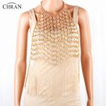 CHRAN Luxury Multilayer Chain <b>Wedding</b> Party <b>Jewelry</b> Stunning Gold Color Metal Tassel Style Sexy Women Body Necklace Chain Dress