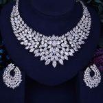 GODKI Luxury Feather Women Nigerian Wedding Engagement Cubic Zirconia <b>Necklace</b> Dubai 2PCS <b>Jewelry</b> Set Jewellery Addiction