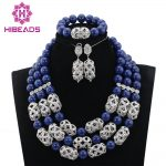 New Fashion Blue Coral Beads Jewelry sets 16 Colors African Wedding Bridal/Women Beads Necklace Jewelry Set Free Shipping CJ873