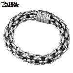 ZABRA 925 Sterling Silver Link Chain Thick Men Bracelet Vintage Thailand <b>Handmade</b> Punk Rock Biker <b>Jewelry</b> Mens Bracelets 2017
