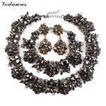 Vedawas 2016 Fashion Statement <b>Jewelry</b> Sets Crystal Choker <b>Necklace</b> Multicolor Bracelet Earring Luxury Wedding <b>Jewelry</b> Sets 1761