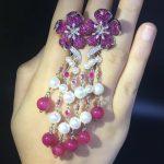 long tassels <b>earring</b> 925 <b>sterling</b> <b>silver</b> with cubic zircon flower <b>earring</b> natural fresh water pearl romantic fashion women jewel