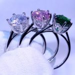 Size 5-10 Luxury <b>Handmade</b> <b>Jewelry</b> Pure 100% 925 Sterling Silver Solitaire 5A CZ Party Women Wedding Band Ring Gift Never Fade