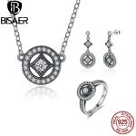 Genuine 100% 925 Sterling Silver <b>Jewelry</b> Set Classic Vintage Allure, Clear CZ <b>Jewelry</b> Sets Fine Sterling Silver <b>Jewelry</b> <b>Making</b>