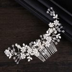 Dower me Charming White Flower Hair Comb Crystal Bridal Headpiece <b>Wedding</b> Prom Hair Vine Accessories Women <b>Jewelry</b>