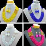 Fashion 2016 Women <b>Necklaces</b> AB Crystal costume jewellry nigerian wedding african beads <b>jewelry</b> set ABC561