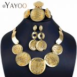 AYAYOO Big African Dubai <b>Jewelry</b> Sets Bridal Gold Color Statement Necklace Set For Women Fashion <b>Wedding</b> Jewellery