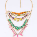 KISS ME Fashion <b>Accessories</b> Candy Multi Layer Gem Statement Necklace 2017 Famous Brand <b>Jewelry</b> Factory Wholesale