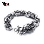 Vnox Vintage Dragon Bracelet Stainless Steel Chain Punk Men <b>Jewelry</b> 8.3″ High Quality