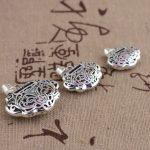 FNJ 925 Silver Pendant 100% Pure S925 Solid Thai Silver Hearl Lock Pendants for Women Men <b>Jewelry</b> <b>Making</b>