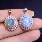 natural opal pendant S925 <b>Sterling</b> <b>silver</b> Natural amethyst Pendant Necklace trendy Elegant Clouds round women girl <b>jewelry</b>