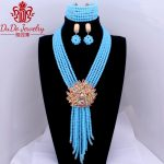 2018 Sea Blue <b>Supplies</b> For <b>Jewelry</b> Crystal Women's African Beads <b>jewelry</b> Sets Store Nigerian Wedding Statement Celebrity Party