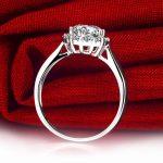 Luxury GIA Diamond Women Engagement Ring 0.5+0.23ct GIA Diamond <b>Jewelry</b> 18K White Gold <b>Handmade</b> Wedding Band