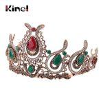 Kinel Retro Crown Hairbands Women Kid Turkish Hair Barrette Accessories Princess Queen Cabelo Headwear Headwrap Wedding <b>Jewelry</b>