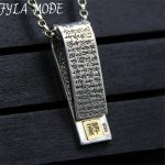 2017 Heart Sutra Pendant 100% Real 925 Sterling <b>Silver</b> <b>Necklace</b> Pendant Jewelry For Men Women Christmas Gift 12*40MM 20G XJF087