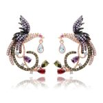 Luxury <b>Jewelry</b> White&Rose Gold color Clear Multi CZ Phoenix Stud Earrings for Women <b>Wedding</b> party accessories