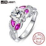 Horse Eye Gem Ruby Ring Infinity <b>Handmade</b> inlaid in 925 Sterling Silver Wedding Rings White CZ Retro Females Royal <b>Jewelry</b>