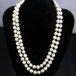 2 Row White pearl necklace 8-9mm 17-18 inches 2 piece/lot DIY Beaded Women hot sale <b>Jewelry</b> <b>making</b> design necklace gift