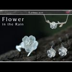 Lotus Fun Real 925 Sterling <b>Silver</b> Natural Handmade Fine Jewelry Flower in the Rain Ring Open Rings for Women Female Bijoux