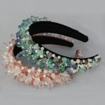 Baroque Crown And Tiaras Pink Crystal Beads Shiny Hair Bands Wide Headbands <b>Wedding</b> Hair <b>Jewelry</b> Party Bridal Hair Accessories