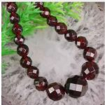 brincos Gift gem beads Beautiful Natural Garnet stone 4-12mm Faceted Round beads stone diy Necklace <b>making</b> for women <b>jewelry</b>