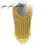 JUST FEEL India Style Long Tassel Necklace Gold Color Chain Exquisite Waist Chain For Women Arab/Africa <b>Wedding</b> <b>Jewelry</b>
