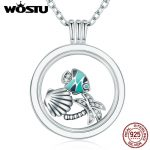 Hot Sale 100% 925 Sterling <b>Silver</b> Floating Medium Pendant Necklaces Fit 7 Style Petite Charms For Women DIY <b>Jewelry</b> CRF001