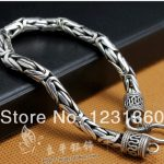 Free shipping 925 pure <b>silver</b> ministering <b>bracelet</b> jewelry thai <b>silver</b> male <b>bracelet</b> ,gift for boyfriend