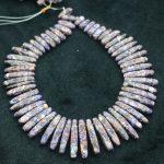 New Beautiful Purple Stone Necklace Point Pendant Beads, Top Drilled Women Fashion <b>Jewelry</b> Spike DIY <b>Making</b> Finding Gems