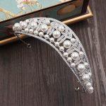 Cubic Zircon Tiara CZ Crown Pearl Imitation Tiaras Diadema <b>Wedding</b> Hair Accessories Hair <b>Jewelry</b> Bijoux Cheveux Coroa WIGO1065