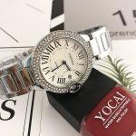<b>Silver</b> Watch Women Luxury Brand Ladies Quartz-Watch Gifts For Girl Full Stainless Steel Rhinestone wristwatches