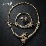 OUMEILY Imitation Crystal Dubai <b>Jewelry</b> Set For Women Earrings Leopard Necklace Bracelet Gold Color Party Wedding <b>Accessories</b>