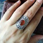 925Silver Natural Carnelian Vintage <b>Handmade</b> <b>Jewelry</b>