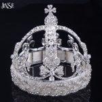 JINSE New Design Big Brand European princess royal crown big crown Tiara Luxury bride <b>wedding</b> <b>Jewelry</b> Hair accessories CR089