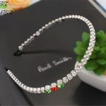 Woman Hair Accessories Hairband Made With Swarovski Elements Crystal <b>Wedding</b> Tiara For Bride Hairwear <b>Jewelry</b> White Gold Plated