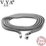 V.YA 2.8MM Thai <b>Silver</b> Men Chain 925 Sterling <b>Silver</b> Snake Chain Necklaces For Male Mens Fine <b>Jewelry</b> 45cm 50cm 55cm 60cm