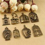 Birdcage <b>Antique</b> Bronze Plated European Bracelets Charm Pendants Fashion <b>Jewelry</b> Making Findings DIY Charms Handmade