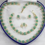 real Women's Wedding generious lady's green zircon necklace, earings, bracelet and ring(7-9#) <b>jewelry</b> sets silver-<b>jewelry</b>