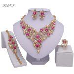 Fani Fashion African Beads Crystal <b>Jewelry</b> Sets women customer Nigerian <b>Wedding</b> <b>Jewelry</b> sets Wholesale design Bridal accessorize