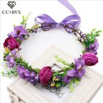 CC Flower Crowns Tiaras Garland Romantic Forest Wedding Hair Accessories For Bridal Bridesmaids Beach <b>Jewelry</b> <b>Handmade</b> su030