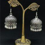 India Women's Cage Tassel Ancient Silver Earrings Retro <b>Handmade</b> Lslamic <b>Jewelry</b> Thailand, Nepal, Middle East <b>Jewelry</b>