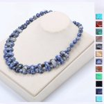 Natural Jade Necklace Chinese Style Charm Women's Stone Crystal Bohemian <b>Handmade</b> Bead Chain Exquisite Party Exaggerated <b>Jewelry</b>