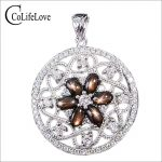 CoLife Jewelry fashion round <b>necklace</b> pendant luxurious natural star light sapphire pendant solid 925 <b>silver</b> sapphire pendant